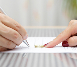 Signing Divorce Document